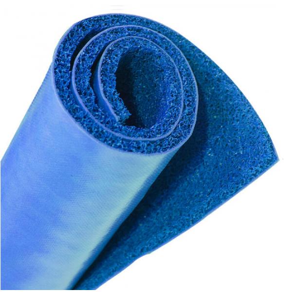 GRAFFE พรมดักฝุ่น PVC  พื้นหลังเรียบ  ขนาด 122*300*1.2 ซม.  สีน้ำเงิน