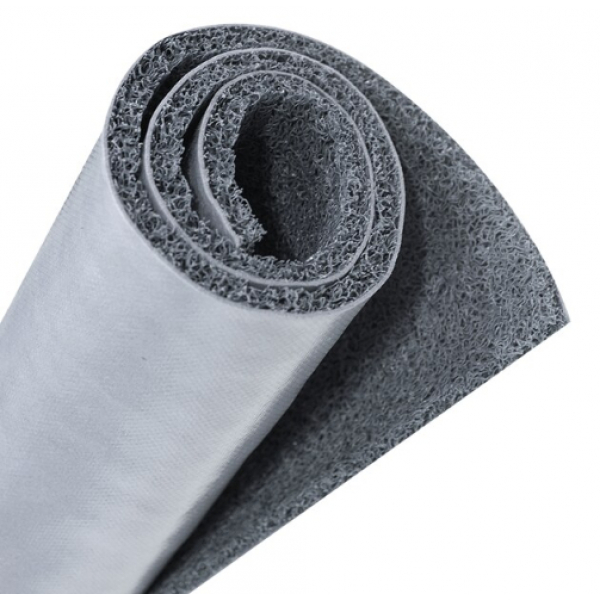 GRAFFE  พรมดักฝุ่น PVC  พื้นหลังเรียบ  ขนาด 122*600*1.2 ซม.  สีเทา
