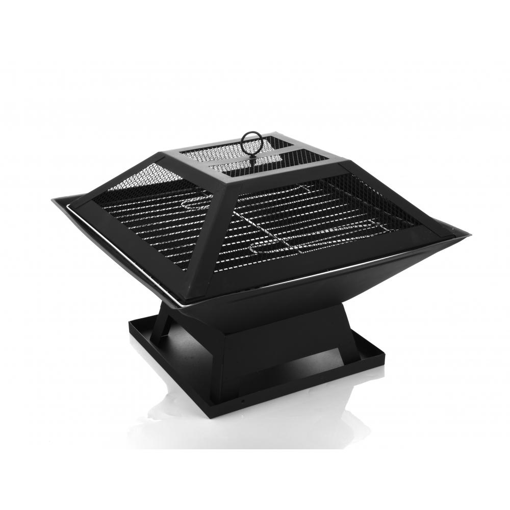Koch Kitchen เตาปิ้งย่างบาร์บีคิว ขนาด 46.5x46.5x37cm  Finegrill-BK สีดำ