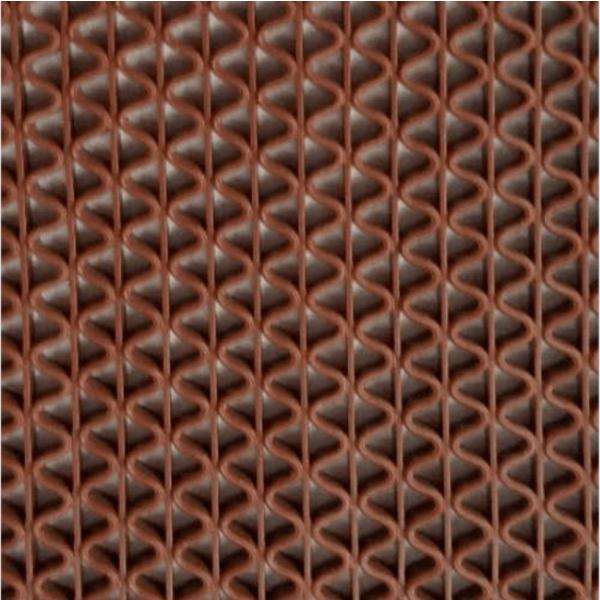 GRAFFE พรมกันลื่นพีวีซี ขนาด 60x150ซม. หนา 0.45ซม. FMS7000–615RD  สีน้ำตาล