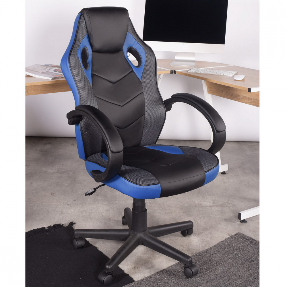 SMITH เก้าอี้สำนักงาน ขนาด 63x68x116 ซม.  LINTON BLUE LP สีน้ำเงิน
