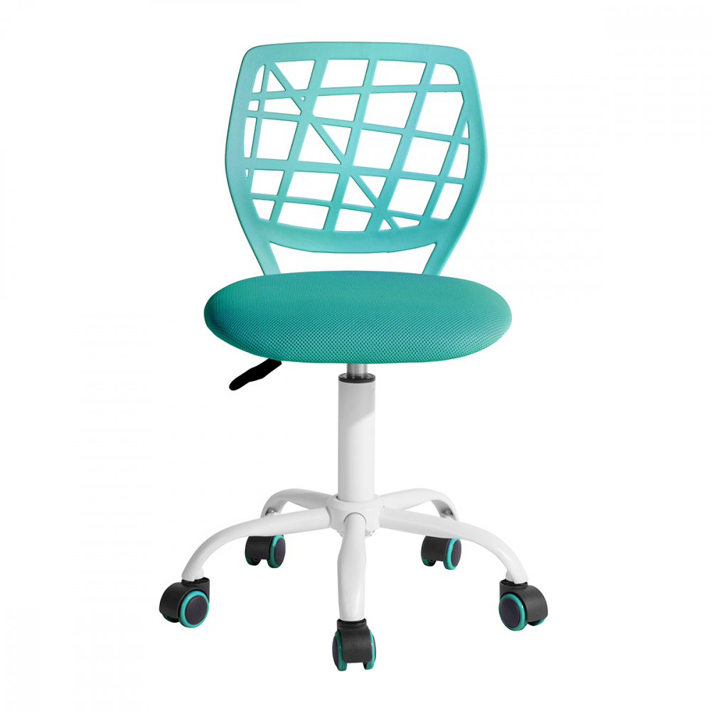 SMITH เก้าอี้สำนักงาน ขนาด 40x45x75-85 cm. CARNATION TURQUOISE สีฟ้า