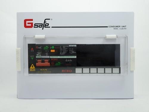 Gsafe ตู้คอนซูเมอร์-เมนเบรกเกอร์กันดูด G safe-R6/6ช่อง 63A กันดูด G safe-R6/6ช่อง RCBO 63A สีขาว