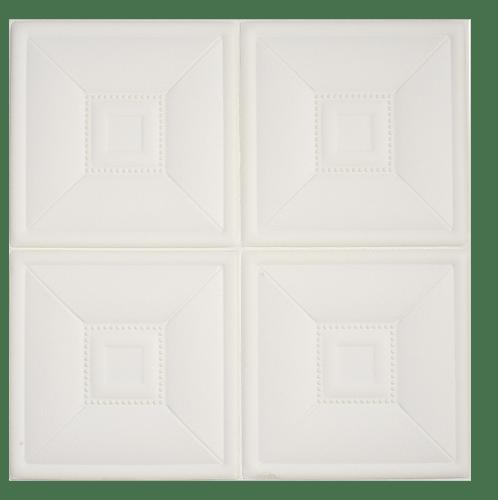 TAPIO วอลเปเปอร์ติดผนัง ขนาด 60x60cm   Square EXM016-WH สีขาว