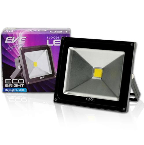 EVE โคมฟลัด LED  อีโคไบรท์ 10W. 220V.วอร์มไวท์.