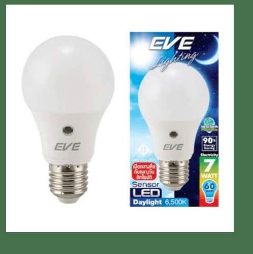 EVE หลอด LED A60 เซ็นเซอร์แสงแดด 7W. เดย์ไลท์  E27.