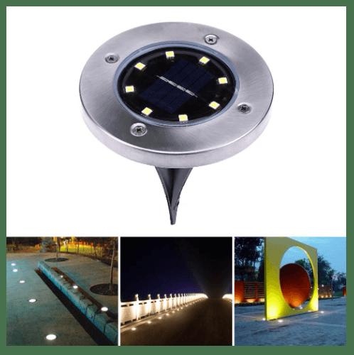 ELON โคมไฟสวนพลังงานแสงอาทิตย์ปักดิน  XLTD-P6103 สีโครเมี่ยม