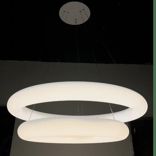 EILON โคมไฟแขวน โมเดิร์น 110W  วอร์มไวท์+เดย์ไลท์  KDD7002 สีขาว