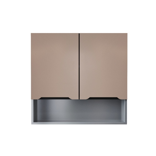 CLOSE ตู้แขวนไฮกลอสแชมเปญพร้อมชั้นวางของ ขนาด 30×80×80 ซม.  WALDEN แซมเปญ