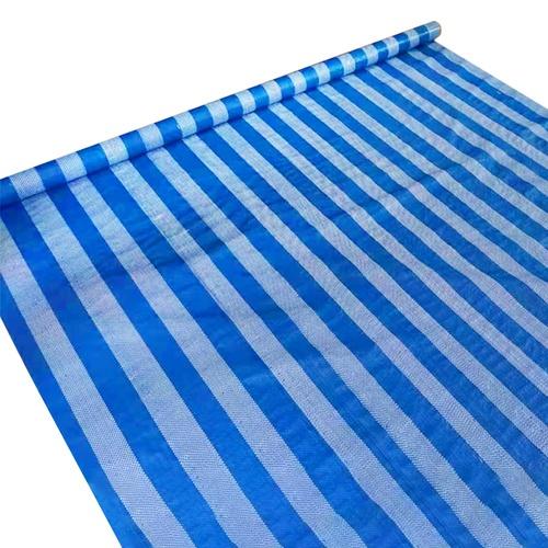 POLLO ผ้าพลาสติกสาน ขนาด 2Yx30Y สีฟ้า-ขาว PB-004