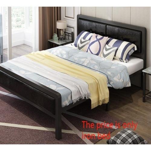 Truffle เตียงเหล็กหัวเบาะ 5ฟุต ขนาด 150x200x35cm T150-BL