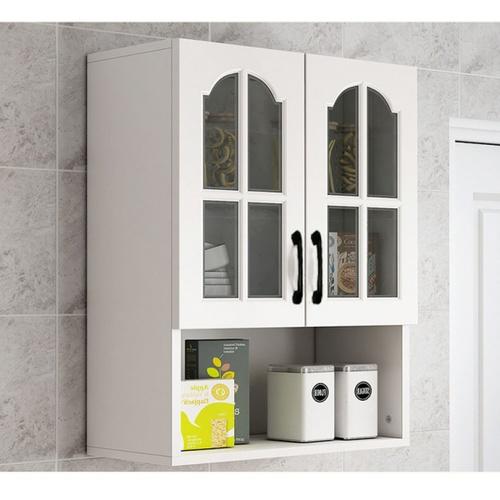 CLOSE ตู้แขวนหน้ากระจกพร้อมชั้นวางของ 60ซม. W32×L60×H80cm.   KITCHY ขาว