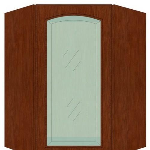 MJ ตู้เข้ามุมหกเหลี่ยมกระจกโค้งใส WC8036GCL-O สัโอ๊ค MJ  โอ๊ค