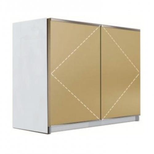 KITZCHO ตู้แขวนบานกระจกเปิดคู่ Charisma KZM-CHR-W-MR-7090X-WH สีขาว KITZCHO  ขาว