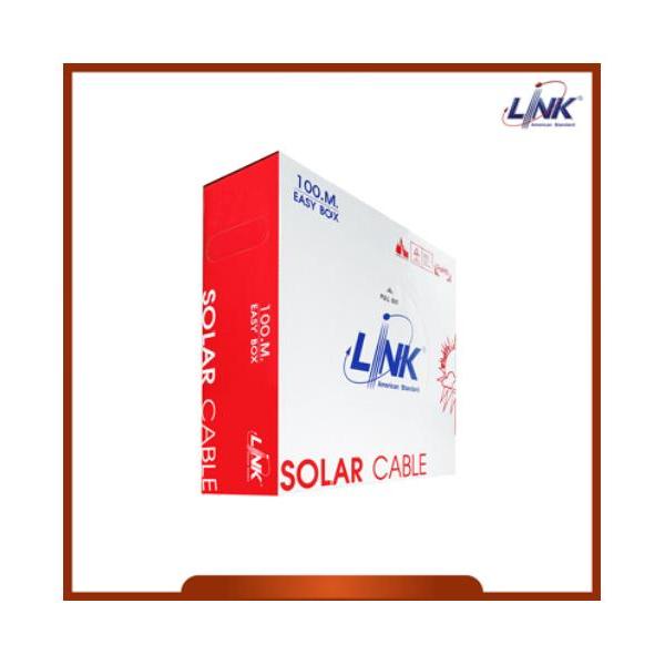 LINK สายไฟโซล่าร์เซลล์ PV ขนาด 4.0 mm2 TUV EN50618 CB-1040B-1 (100 M./Box)  สีดำ
