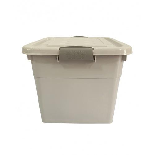 GOME กล่องพลาสติกมีล้อ 25 ลิตร ขนาด 28.5x38.5x21ซม.  2BEZ044-GR สีเทา