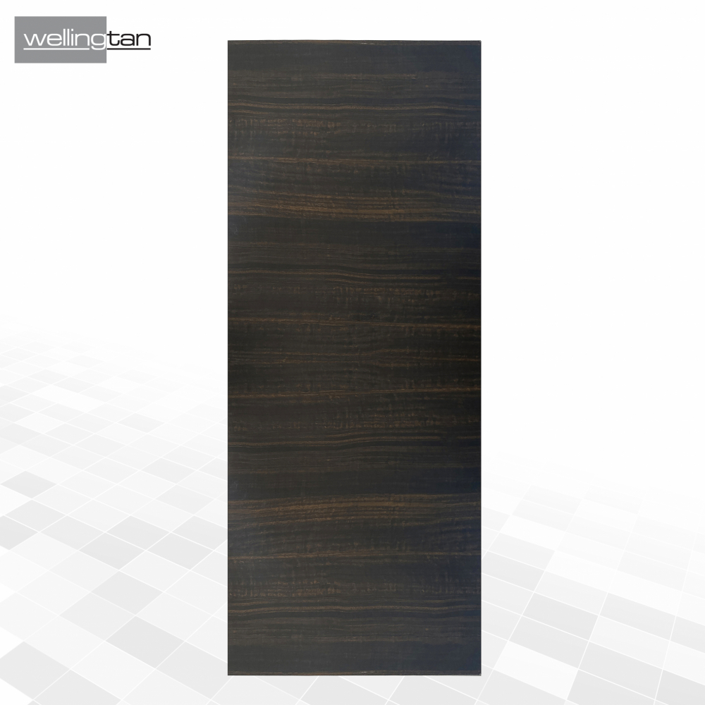 WELLINGTAN ประตูยูพีวีซี บานทึบ (เงา) ขนาด  80x200ซม. TEAK UPVC-SD03 สีน้ำตาล