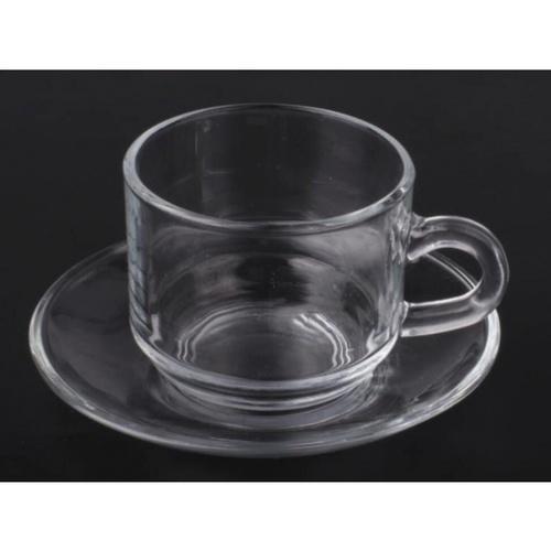 AILO ชุดแก้วกาแฟพร้อมจานรอง 6ชุด/แพ็ค 210มล.  PEKKA-05