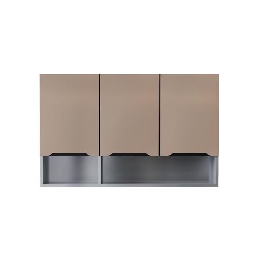 CLOSE ตู้แขวนไฮกลอสแชมเปญพร้อมชั้นวางของ ขนาด 30×120×80 ซม. WALDEN แซมเปญ
