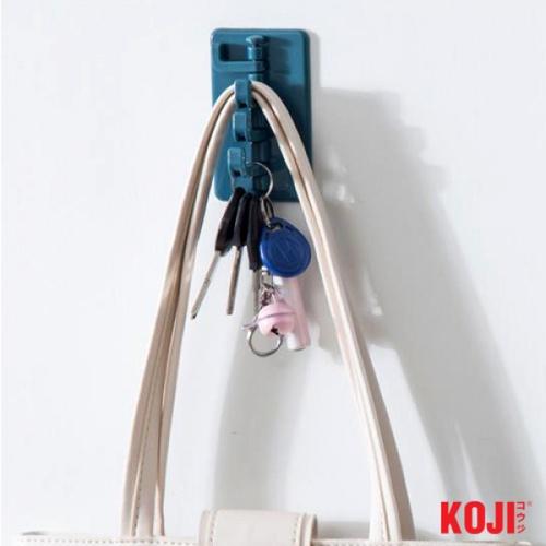 KOJI ตะขอแขวนติดผนัง ขนาด 5.5x9x5 cm. 2ZXS004-BU สีน้ำเงิน