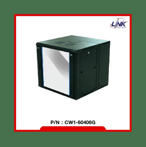 LINK ตู้ Rack Cabinet 6U ขนาด 19 นิ้ว ลึก 40cm CW1-60406G