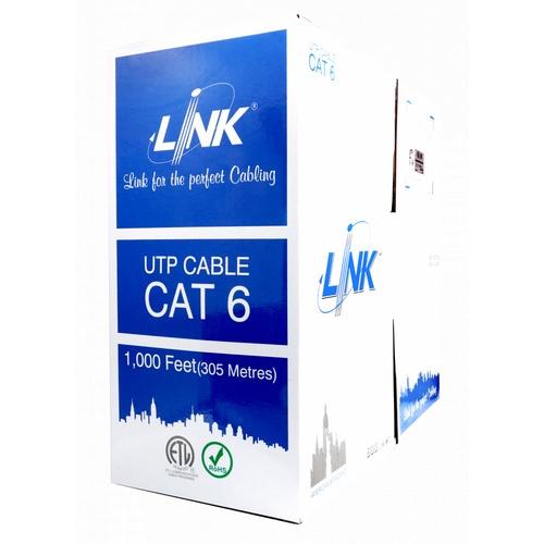 LINK สายแลน CAT6 (600Mhz) UTP LINK สีขาว 350เมตร US-9116 สีขาว