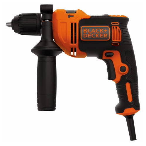 BLACK AND DECKER สว่านไฟฟ้ากระแทก 13 มม. 710W.  BEH710K-B1 สีส้ม