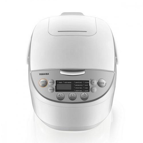 TOSHIBA หม้อหุงข้าวดิจิตอล 1.8 ลิตร  RC-T18DR1 สีขาว