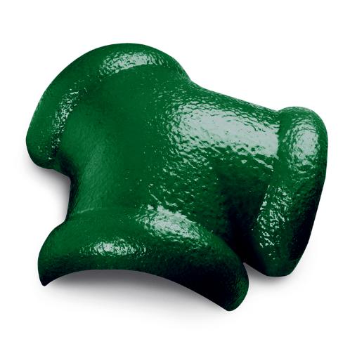 ตราเพชร ครอบสันโค้ง 3 ทาง CTเพชร รุ่น แกรนออนด้า ขนาด 42x36 ซม. สีเขียวผ่องใส