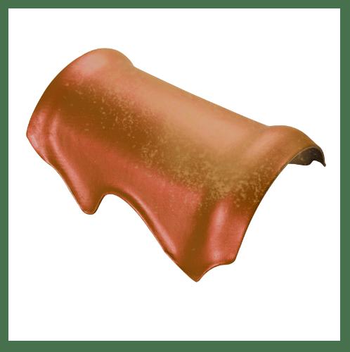 ตราเพชร ครอบสันตะเข้ กระเบื้องจตุลอน ขนาด 29x40 ซม สีส้มคอร์เดีย