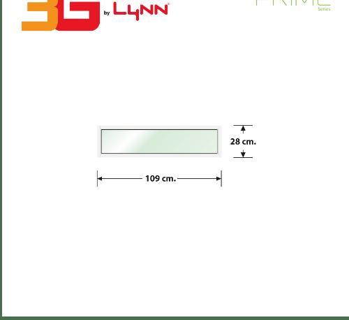 3G หน้าต่างอลูมิเนียมช่องแสงติดตาย ขนาด 109x28 ซม.  Prime  สีขาว