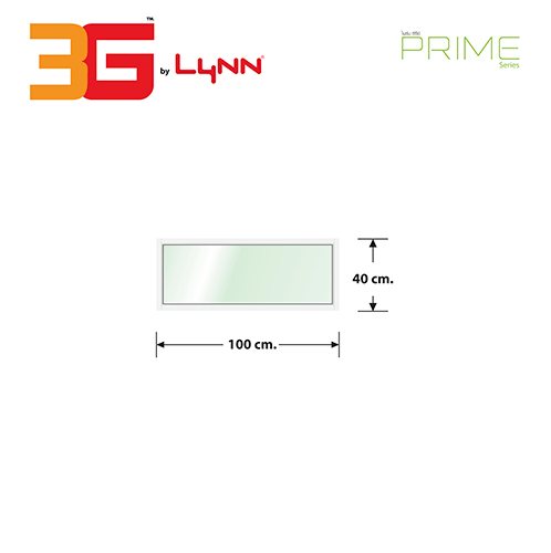 3G หน้าต่างอลูมิเนียมช่องแสงติดตาย (PS) 100x40ซม.  PRIME  สีขาว