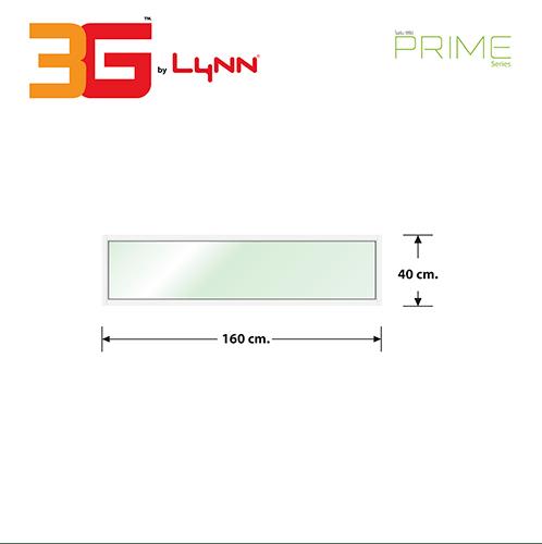 3G  หน้าต่างอลูมิเนียมช่องแสงติดตาย (PS) 160x40ซม.  PRIME สีขาว