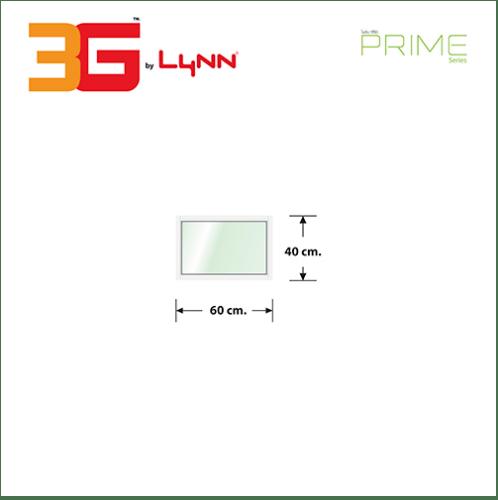 3G  หน้าต่างอลูมิเนียมช่องแสงติดตาย 60x40ซม.  (PS) สีขาว