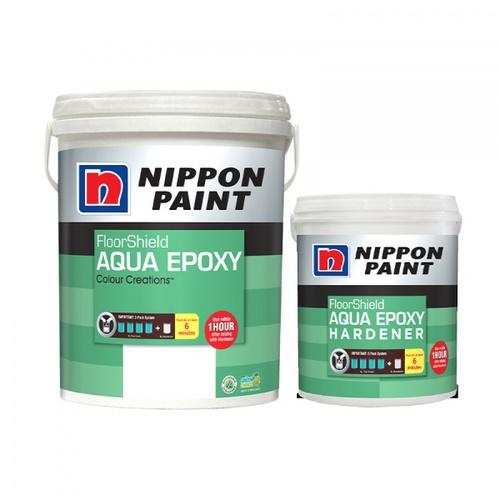 NIPPON นิปปอนอะควา อีพ็อกซี่เบสD+ฮาร์ดเดนเนอร์  (สูตรน้ำ) AQUA EPOXY  สีขาว