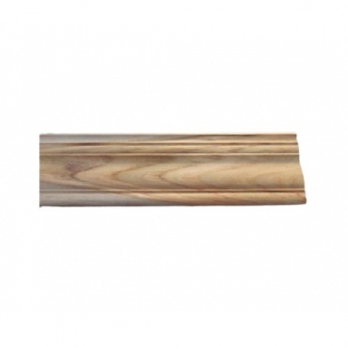 - ไม้บัวบนไม้สัก (บัวฝ้า) ลายน้อย ขนาด 5/8นิ้วx3นิ้ว x2.50ม.  SJK55