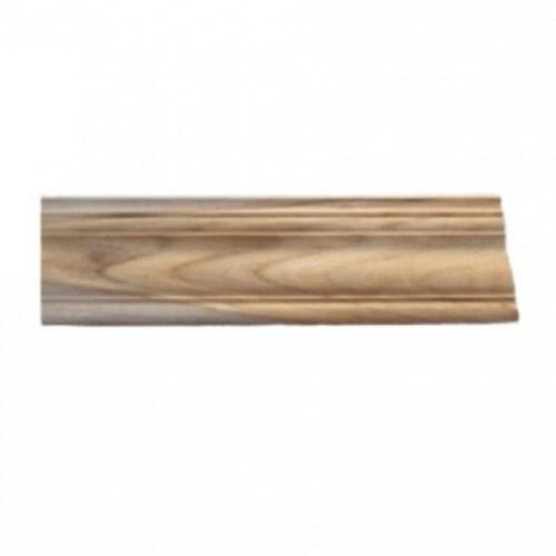 - ไม้บัวบนไม้สัก(บัวฝ้า) ลายร่องเงิน1 ขนาด 5/8นิ้ว x4นิ้ว x3.50ม.  SJK57
