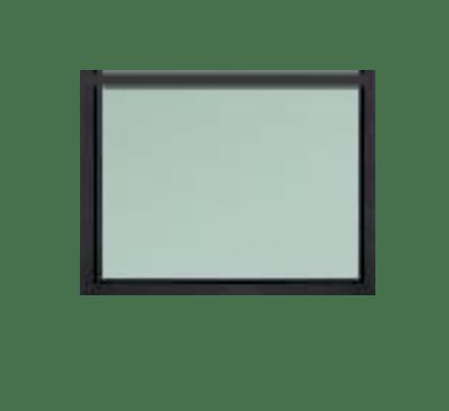 A-Plus หน้าต่างอะลูมิเนียมช่องแสงติดตาย 50x45ซม. SAHARA เทาเข้ม