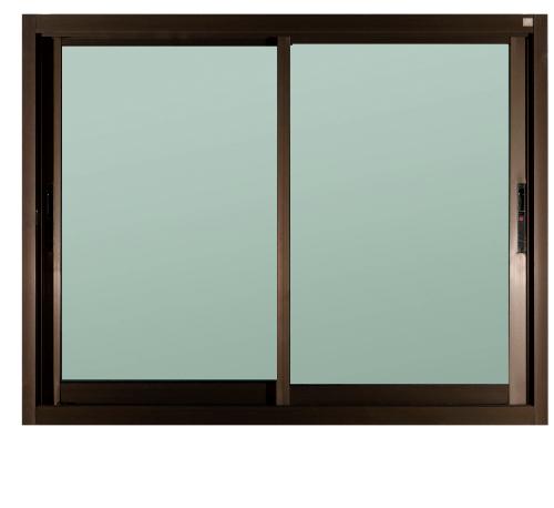 A-Plus หน้าต่างอะลูมิเนียม บานเลื่อน SS Like-001 ขนาด 120x108ซม. สีชา กระจกเขียวใส (ไม่มีมุ้ง)