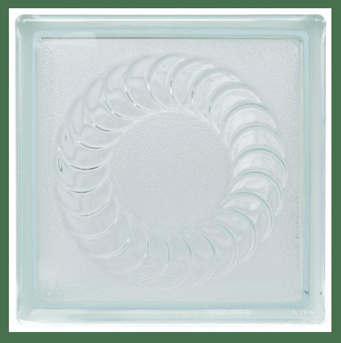 ช้างแก้ว บล็อกแก้วใส แก้วบุษบา (190x190x80mm)  N-011 ใส