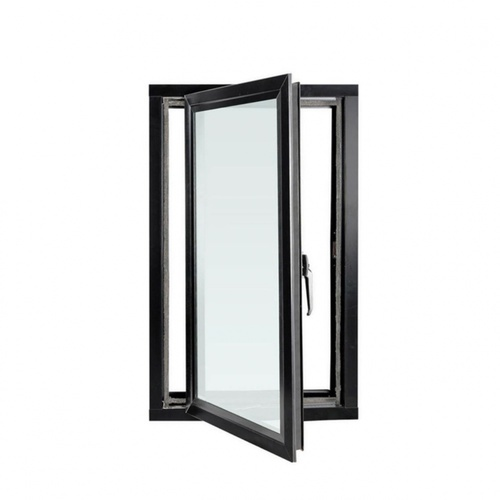 Wellingtan หน้าต่างไวนิลบานเปิด ขนาด 60cm.x110cm. พร้อมมุ้ง สีดำ