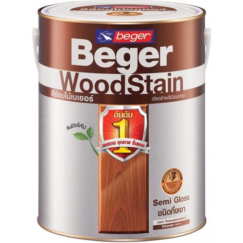 Beger สีย้อมไม้ชนิดกึ่งเงา วูดสเตน  S-2903 (TEAK/สีไม้สัก) กล.