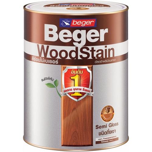 Beger สีย้อมไม้ชนิดกึ่งเงา วูดสเตน S-2900   1/4gl.  (TRANSPARENT/สีใส)