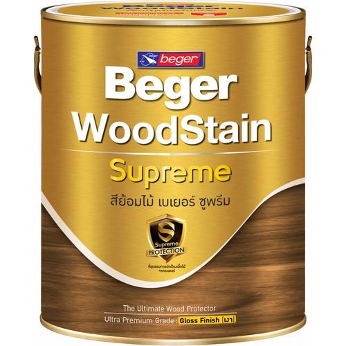 BEGER สีย้อมไม้ ซูพรีม ชนิดเงา  G-9101 (Burmeseteak/สีไม้สัก)