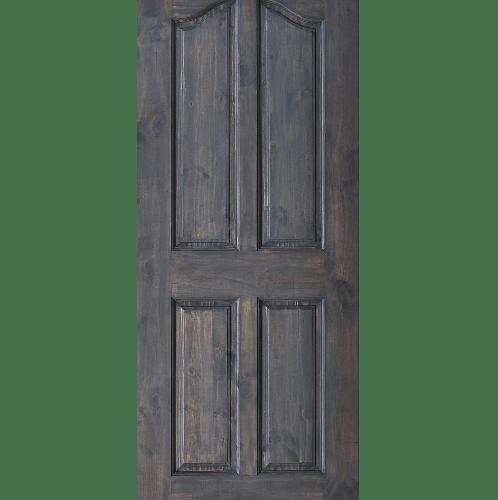 D2D ประตูไม้ดักลาสเฟอร์ บานทึบลูกฟัก ขนาด 80x200cm.  Eco-Ezero 9 สีแบล็คแอช