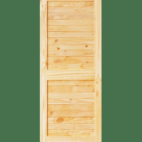 D2D ประตูไม้สนนิวซีแลนด์ บานทึบเซาะร่อง ขนาด   89x175ซม. Eco Ezero26