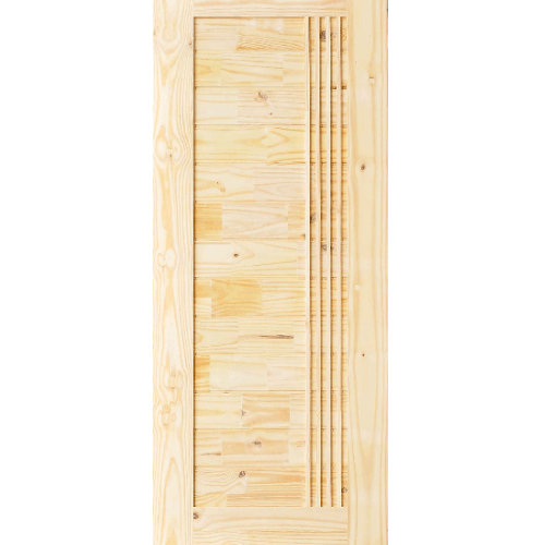 D2D ประตูไม้สนนิวซีแลนด์ บานทึบทำร่อง ขนาด 90x200ซม. Eco-Ezero 7