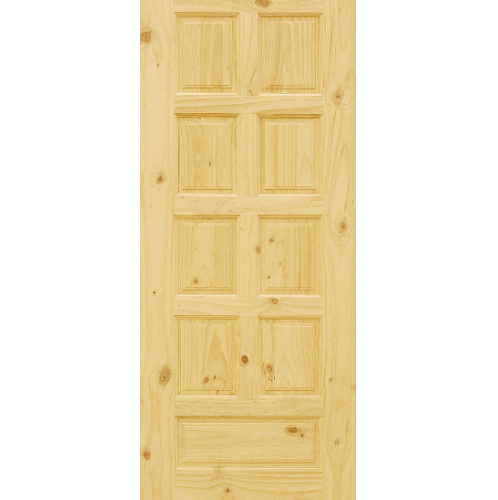 D2D ประตูไม้สนนิวซีแลนด์ บานทึบลูกฟัก ขนาด 90x180ซม. Eco Pine-002
