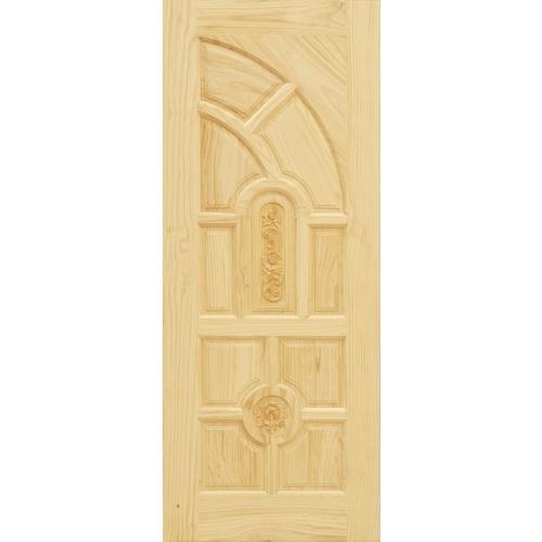 D2D ประตูไม้สนNz บานทึบลูกฟักแกะลาย Eco Pine-005 90x200cm.  Eco Pine - 005