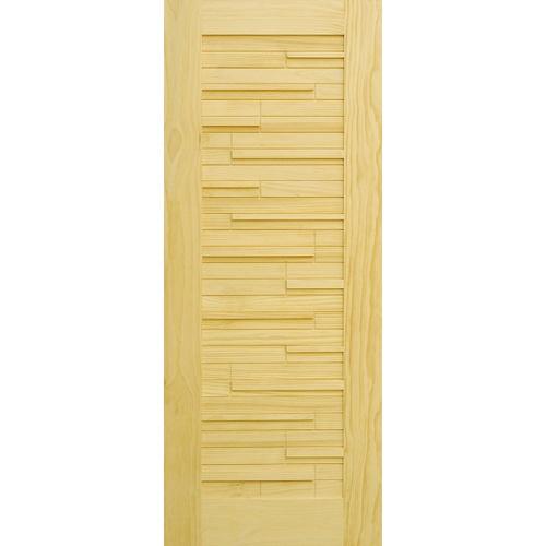 D2D ประตูไม้สนนิวซีแลนด์ ขนาด 100x200 cm.  D2D-501